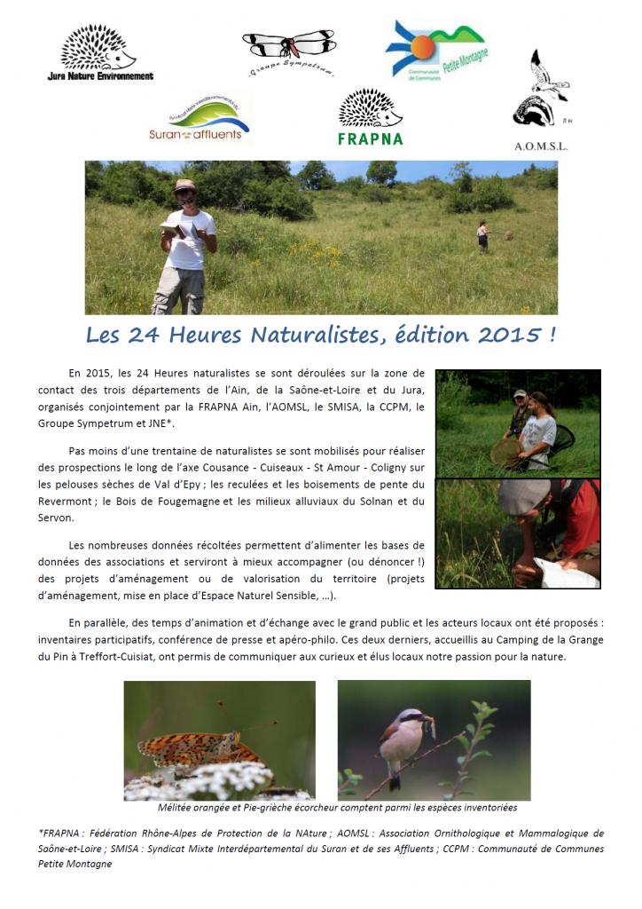 Bilan des 24H Naturalistes